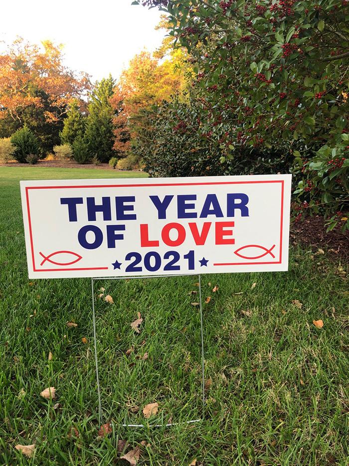 Love 2021 sign