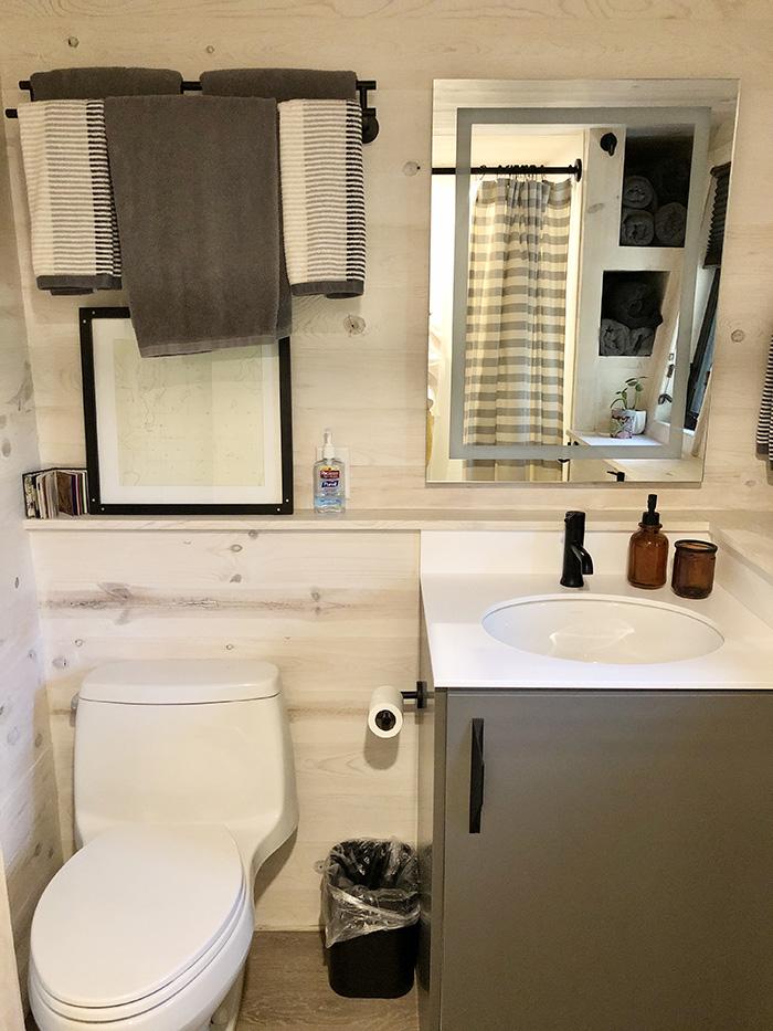 tiny house home tour bathroom