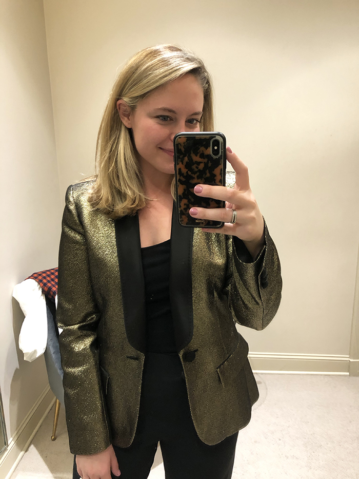 Holiday fashion guide sparkle blazer trend coplons