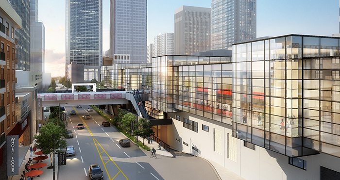Charlotte Convention Center rendering (charlottemeetings.com, courtesy of tvsdesign)