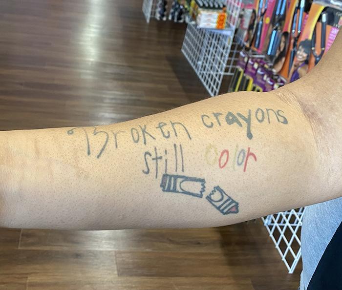 Treysure Steele's tattoo